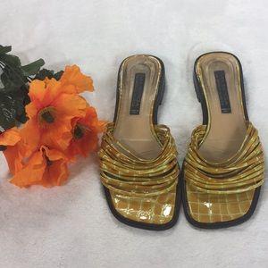 Via Spiga for Neiman Marcus yellow sandals